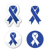 Navy blue ribbon - child abuse, drunk driving symbol Stock Illustration