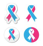 Pink and blue ribbon - pregnancy and infant loss awereness symbol Stock Illustration