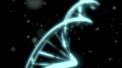 Stock Video Footage of DNA RNA double helix slow tracking shot closeup depth of field DOFwhite