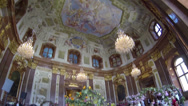 Stock Video Footage of Ceiling painting of the Marble Hall in the Upper Belvedere by Carlo Carlone
