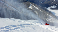 Snow Gun At Mountains Stock Footage
