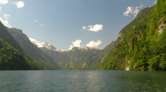 Lake Koenigssee Berchtesgaden bavaria alps. Stock Footage