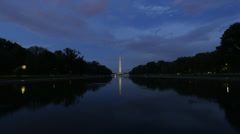 Stock Video Footage of Washington Monument Evening Time Lapse