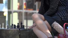 Chess In The City - 05 Stock Footage
