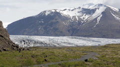 Panorama view over Skaftafell Stock Footage
