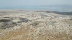 Dead sea from masada Stock Footage