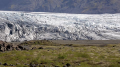 Panorama view over Skaftafell glacier Stock Footage