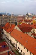 Top vew of  Prague Stock Photos