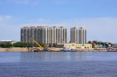 Blagoveshchensk. New houses on the embankment Stock Photos