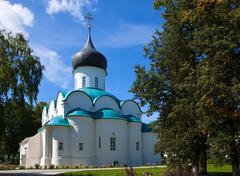 Trinity Cathedral in   Aleksandrov, Russia Stock Photos
