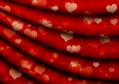 Valentine background with hearts - stock illustration