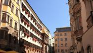 Goldenes Dachl in Innsbruck Stock Photos