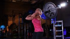 Olympic Weight Lifting Training Barbell Stock Footage