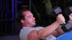 Dumbbell Fly Workout - stock footage