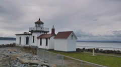 West Point Light MS Stock Footage