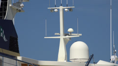 Stock Video Footage of Boat Antennas, Yahcts, Radio, Telecommunications