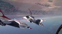 USAF Thunderbirds 60 Year Anniversary Tribute airshow Stock Footage
