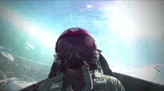 USAF Thunderbirds 60 Year Anniversary Tribute airshow - stock footage