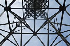 Power transmission pole Stock Photos