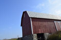 strong old barn - stock photo
