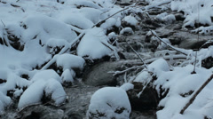 Stock Video Footage of Winter stream 4
