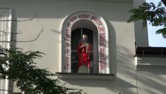 St Peter  church in Montmartre, Paris Stock Footage
