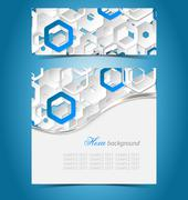Double color abstract paper template - stock illustration