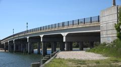 Bridges, Spans, Pedestrian Bridges, Foot Bridges Stock Footage