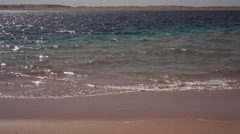 Waves on a beach in Marsa Bareka, Ras Mohamed, Sinai Stock Footage