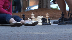 Chess In The City - 10 Stock Footage