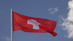 Flag Of Switzerland. 4K. Stock Footage