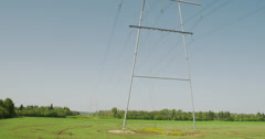 an electric posts with wires - stock footage
