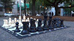 Chess In The City - 11 Stock Footage
