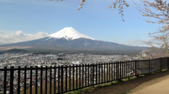 Mt. Fuji with cherry blossom Stock Footage