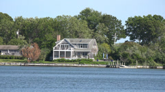 Lake Houses, Summer Homes, Shorefronts Stock Footage