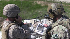 JTAC Joint terminal attack controller Live-Fire and Aerial Bombing Stock Footage
