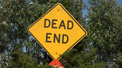 Dead End, Street Signs, Warnings, Ordinances,  Traffic Laws Stock Footage