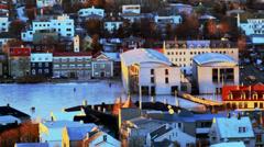 Reykjavik City pond Stock Footage