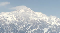Aerial view of Mount McKinley Base Camp Stock Footage