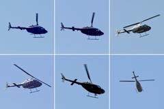Helicopter aircraft Stock Photos