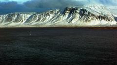 Esja Mountain landscape in Reykjavik Stock Footage