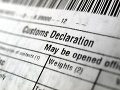 Customs declaration Stock Photos