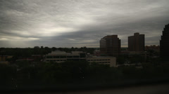 1080p HD Stock - Downtown storm rolling in - Time lapse Stock Footage