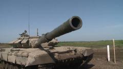 T-90 tank makes ready to fire. Stock Footage