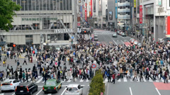 The most famous and busy district of Tokyo in Shibuya Stock Footage