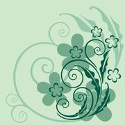 Decorative floral background - stock illustration