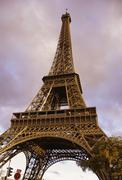 Tour Eiffel Street View - stock photo
