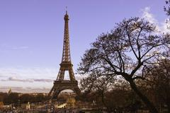 Tour Eiffel view from Trocadero - stock photo