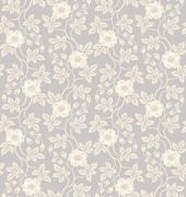 Seamless floral background - stock illustration