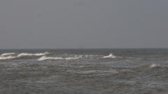 Noordwijk, waves in slowmotion at the northsea Stock Footage